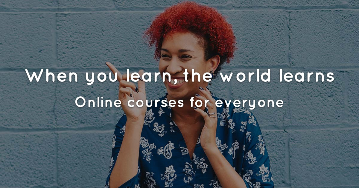 Cudoo Online Courses - When you learn, the world learns